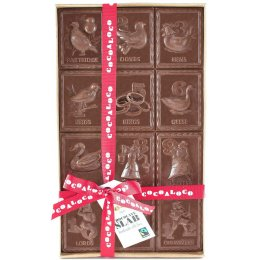Cocoa Loco 12 Days Of Christmas Milk Chocolate Slab - 500g