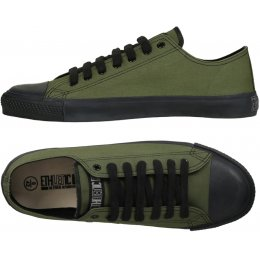 Ethletic Fairtrade Trainers - Camping Green & Jet Black