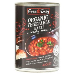 Free & Easy Organic Vegetable Balti - 400g