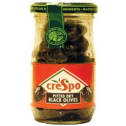 Crespo Pitted Dry Black Olives - 110g