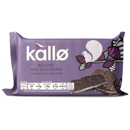 Kallo Organic Milk Chocolate Rice Cake Thins - 90g