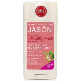 Jason Womens Naturally Fresh Unscented Deodorant Stick - 75g