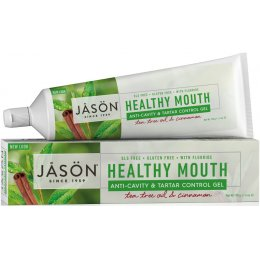 Jason Healthy Mouth Tartar Control Toothgel with Fluoride - Tea Tree & Cinnamon - 170g