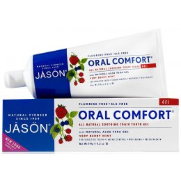 Jason Oral Comfort Fluoride Free Soothing Toothgel - Berry & Mint - 122g
