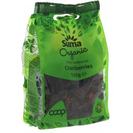 Suma Prepacks Organic Cranberries - 125g