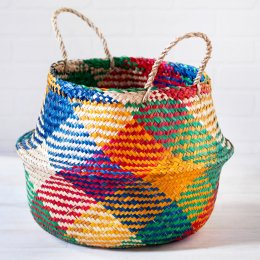 Carnival Rice Woven Storage Basket