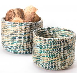 Woven Storage Baskets - Set of 2