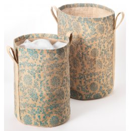 Room Tidy Jute Baskets - Set of 2