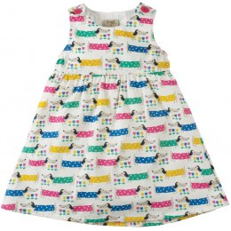 Frugi Little Pretty Sausage Dog Party Dress