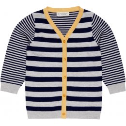 Sense Organics Navy & Grey Stripe Jean Jacket