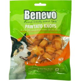 Benevo Vegan Pawtato Knots Vegan Dog Chews - 150g