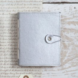 Naari Hand Stitched Silver Notebook - Small