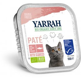 Yarrah Organic Cat Food - Pate With MSC Salmon & Seaweed 100g