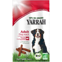 Yarrah Organic Beef Chewsticks With Seaweed & Spirulina For Dogs 33g