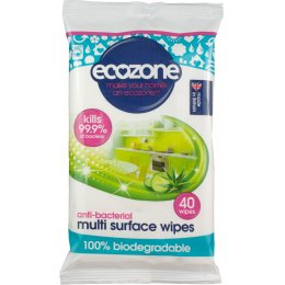 Ecozone Anti-Bacterial Multi Surface Wipes - 40 Wipes