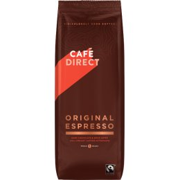 Cafedirect Original Espresso Whole Coffee Beans - 1kg