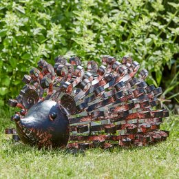 Solar Powered Metal Silhouette Hedgehog Light