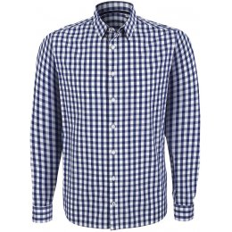 Organic Cotton Casual Longsleeve Shirt - Blue Check