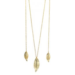 Fair Trade Gold Colour Leaf Necklace