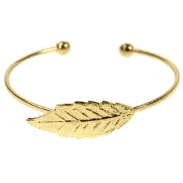 Fair Trade Gold Colour Leaf Bracelet