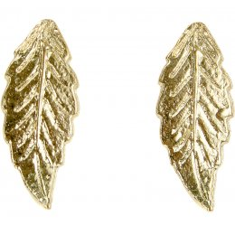 Fair Trade Gold Colour Leaf Earrings