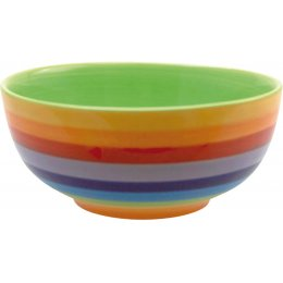 Hand Painted Rainbow Bowl - 15cm