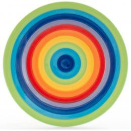 Hand Painted Rainbow Plate - 18cm