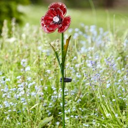 Solar Powered Poppy Stake Light - 2 Pack