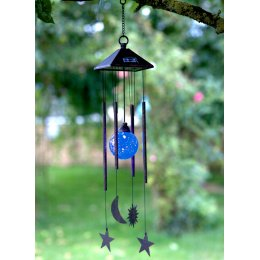 Solar Powered Sun Moon & Star Wind Chime Light