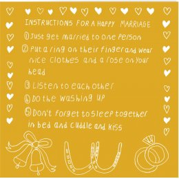 Arthouse Meath Charity Happy Marriage Instructions Card