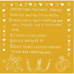 ARTHOUSE Unlimited Charity Happy Marriage Instructions Card