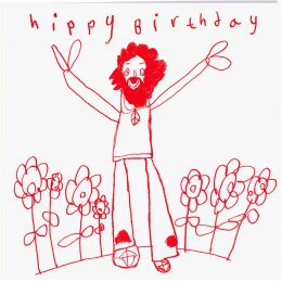 ARTHOUSE Unlimited Charity Hippy Birthday Card