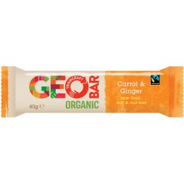 Fairtrade Carrot & Ginger Organic Geobar- 40g