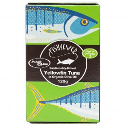 Fish 4 Ever Yellowfin Tuna Fish in Organic Olive Oil - 120g