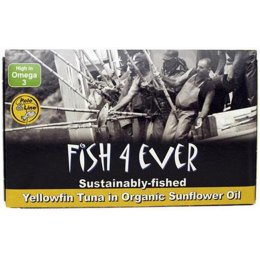 Fish 4 Ever Yellowfin Tuna Fish in Organic Sunflower Oil - 120g