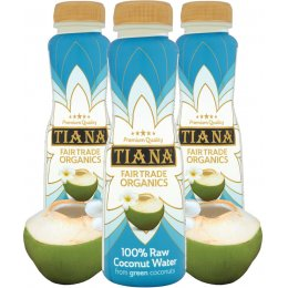 Tiana Fair Trade Pure Raw Coconut Water - 350ml