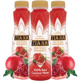 Tiana Fair Trade Raw Coconut Water with Real Pomegranate - 350ml