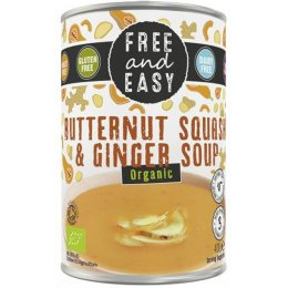 Free & Easy Organic Butternut Squash & Ginger Soup - 400g
