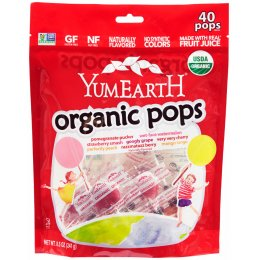 YumEarth Organic Lollipops Assorted Flavours - 40 Pops