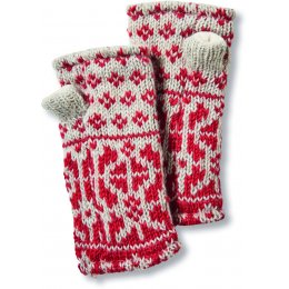 Womens Tromso Wristwarmers - Red