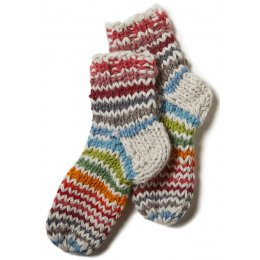 Womens Hoxton Stripe Sofa Socks - Multi Coloured