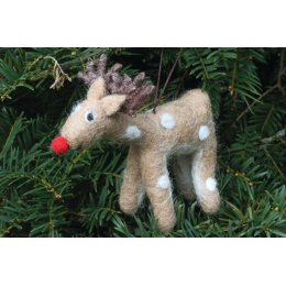 Hanging Christmas Tree Decoration - Rudolph
