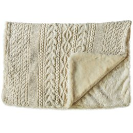 Chamonix Fur Throw - Cream