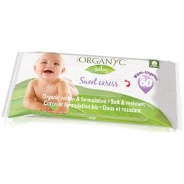 Organyc Sweet Caress Organic Cotton Baby Wipes - Pack Of 60