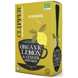 Clipper Organic Lemon & Ginger Tea - 20 Bags