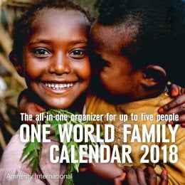 Amnesty One World 2018 Family Wall Calendar