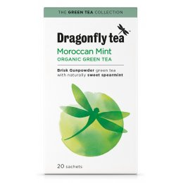 Dragonfly Organic Moroccan Mint Green Tea - 20 Bags