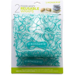 U-Konserve Reusable Medium Food Kozy Wrap - 2 Pack - Clear Sky
