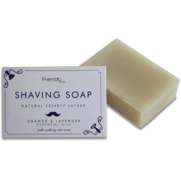 Friendly Soap Natural Shaving Soap Bar - Orange & Lavender - 95g