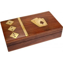 Sheesham Wood Card & Dice Box